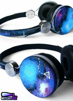 7e3b81bb473 How super cool are these Space Galaxy Nebula hand painted headphones?  Really super cool.