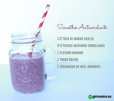 smoothie antioxidante #smoothie #antioxidante #fruta #ingredientes #vitaminas #comersano #zumo #smoothie #recetas