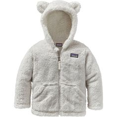 Patagonia Toddler Furry Friends Hoodie, Size: 4T, Birch White
