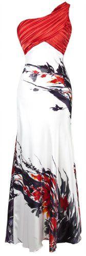 Angel-fashions Women's Fashion One Shoulder Chinese Painting Bridesmaid Maxi Dress Medium | Amazon Promo Code