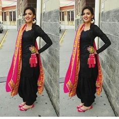 New Punjabi Suit Design New Punjabi Suit, Punjabi Suit Simple, Punjabi Dress, Punjabi Salwar Suits, Punjabi Girls, Dress Indian Style, Indian Dresses, Indian Wear, Indian Outfits