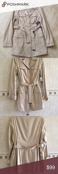 Tahari women jacket Beautiful Tahari brand new women jacket. Size M. Retail $ 498 Tahari Jackets & Coats Trench Coats