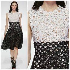 Dior crochet dress