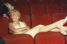 Marilyn during the filming of The Seven Year Itch, 1954.