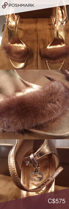 Brand New GUCCI Real Fur heels with crystals Brand New 100% Authentic Designer GUCCI heeled sandals with crystals &  authentic fur( very rare as Gucci recently stopped making real fur) Size 8.5 Heel height 10-11cm The ultimate in designer glamour and luxury with real chestnut brown fur and crystal GUCCI charms. Original dust bag and box included This beautiful GUCCI shoes are 100% brand new, never worn and in perfect condition! Gucci Shoes Heels