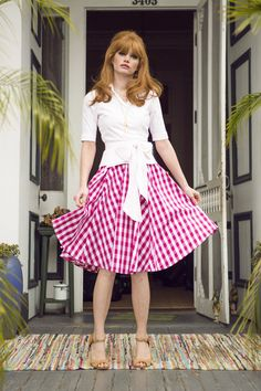 I love this whole look         - Southern flair skirt from the Spring Collection by Shabby Apple