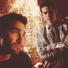 Stiles and Derek - so cute together (though it's rare anymore) Teen Wolf S4
