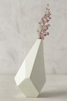 Faceted Ceramic Vase - anthropologie.com #anthroregistry