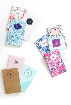 Design your very own custom notebook! It's super fun (and simple!) Get started by clicking through this pin.