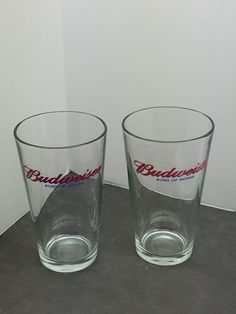 Budweiser King Of Beers Drinking Glasses set of 2 | Collectibles, Breweriana, Beer, Drinkware, Steins | eBay!