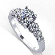 White Gold Rings, White Gold Diamonds, Diamond Rings, Diamond Jewelry, Moissanite, Heart Ring, Engagement Rings, Unique Jewelry, Stuff To Buy