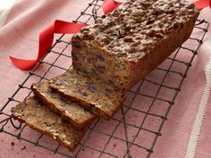 Free Range Fruitcake recipe from Alton Brown via Food Network - don't like fruit cake because of the overkill of raisins but this sounds nice because of the better choice of fruit! Holiday Baking, Christmas Baking, Christmas Treats, Irish Christmas, Christmas Foods, Christmas Cookies, Christmas Pudding, Christmas Candy, Christmas Holidays