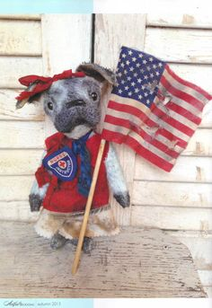 Brady Bears Studio article in the Aug-Oct 2013 issue of Artful Blogging magazine Somerset Studio Stampington & Company...pictures one of my Americana Pug dogs