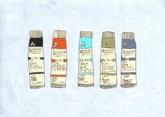 Chelsea Dirck - Paint Tubes T Bo, Paint Tubes, Brush Pen, Paint Brushes, How To Feel Beautiful, Tatting, Chelsea, Drawings, Piercing Ideas