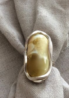 Butterscotch Baltic Amber Ring by AniaBoutique