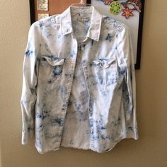 BYCORPUS Light Acid Wash Chambray Shirt Worn a few times, still in 10/10 condition // bought from urban outfitters, can fit sizes S-L, depending on how loose you want it Urban Outfitters Tops