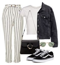 """Untitled #2665"" by camila-echi ❤ liked on Polyvore featuring Topshop, H&M, J.W. Anderson and Ray-Ban"