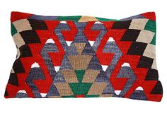 One Kings Lane - Geometric Kilim  Lumbar Pillow