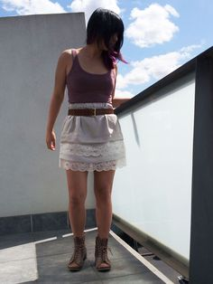 DIY Tiered Lace Scalloped Skirt with FREE Sewing Pattern and Tutorial