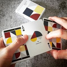 The abstract Ace of Spades of Palette #playingcards by the creative guys from @black_swan_project.