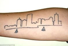 Boston Skyline Tattoo Idea. Placement - left or right rib cage