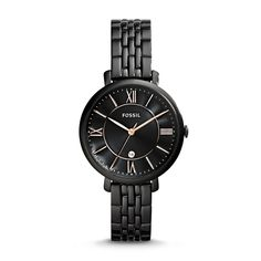 #Fossil Jacqueline Three-Hand Date Stainless Steel Watch - Black