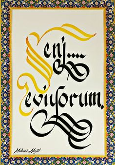 Kendi kalemimden. Mehmet Akgül Caligraphy, Calligraphy Art, Beautiful Notes, Smart Art, Lettering, Logos, Drawings, Tatoo, Penmanship