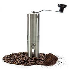 Most Consistent Hand Coffee Grinder - Ceramic Burr Grinder made with Professional Grade Stainless Steel. Manual Coffee Grinder - Perfect Coffee Grinder for French Press, Espresso or as a Spice Grinder or Herb Grinder. - http://teacoffeestore.com/most-consistent-hand-coffee-grinder-ceramic-burr-grinder-made-with-professional-grade-stainless-steel-manual-coffee-grinder-perfect-coffee-grinder-for-french-press-espresso-or-as-a-spice-grinder/