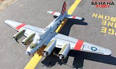 Oversize B-17 Bomber RC Warbird Airplane - Radio Controlled Oversize B-17 Bomber Military Plane - RC