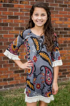 Youth Girls: Better Than Words Tunic Dress - Grey - What's New