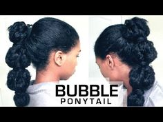 The Perfect Bubble Ponytail on Natural Hair | How To - Naptural85 - YouTube