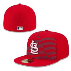 St. Louis Cardinals New Era Stars   Stripes 4th of July Diamond Era 59FIFTY  Fitted Hat - Red 236d61034be1