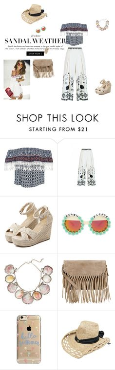 """""""Ha(i)ppy day at the beach"""" by fuffa ❤ liked on Polyvore featuring Sans Souci, Temperley London, WithChic, Rad+Refined, Paolo Costagli, Accessorize and Agent 18"""