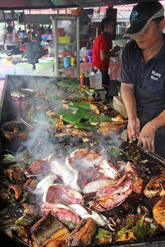 Incredible Malaysian ikan bakar - grilled fish!