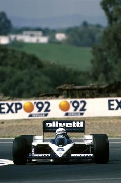 """forget everything after, the 1986 turbo cars, really was rockets … and to handle them, I think, you had to be a man"" * Elio de Angelis, Olivetti Brabham-BMW BT55, 1986 Spanish Grand Prix, Jerez de la..."