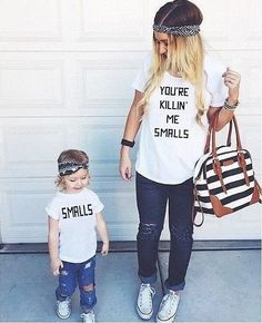 Mother and Child Shirt Combo- Mommy and Me t shirts You're Killing Me Smalls Killin, best price on the net