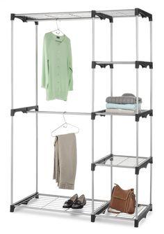 Silver Heavy Duty Double Rod Closet Rack Shelf Clothes Organizer Shelves Estante for sale online Closet Rod, Closet Shelves, Room Closet, Closet Storage, Closet Organization, Master Closet, Storage Rack, Master Suite, Storage Shelves
