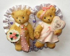 Heidi´s Cherished Teddies Galerie: Valentine Magnets - 2005 Avon Exclusive in my collection