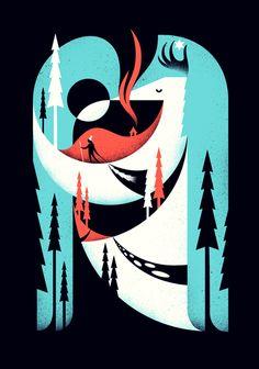 Illustration & Type by Matt Chase, via Behance
