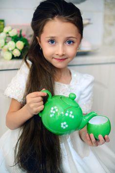 photographer Zhenia FOTOKOT  model Varvara Preminina  Russia  #fashion #kids #models #pretty #beautiful #emotion #lovely #sugar #eyes #longhair #lips  #adorable #tea #teatime #teapot