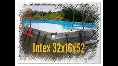 """Intex 32'x16'×52"""" Above Ground Pool Review & What others Won't tell you,... Intex Above Ground Pools, Above Ground Swimming Pools, In Ground Pools, Small Pool Design, Deck Design, Rectangle Pool, Intex Pool, Pool Installation, Pool Landscaping"""