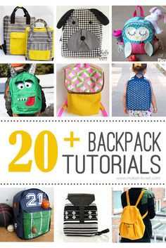 20+ DIY Backpack Tutorials (child and adult styles)...great for back to school…