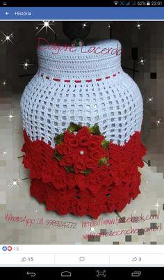 Krystal Wright's media content and analytics Crochet Mat, Crochet Bikini Pattern, Easy Crochet Patterns, Crochet Designs, Crochet Doilies, Crochet Flowers, Free Crochet, Crochet Jar Covers, Hand Embroidery Art