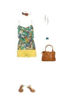 WetSeal.com Runway Outfit:  Summon the Sunshine by Rosedivine29. Outfit Price $97.00