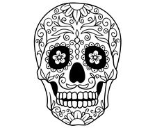 Dibujo de Calavera mejicana para colorear