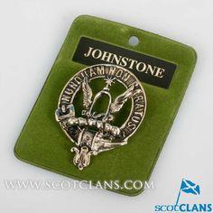 Johnstone Clan Crest Cap Badge