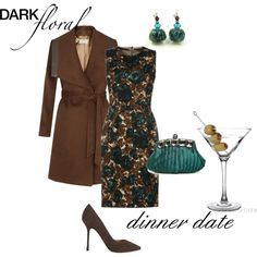"""""""Dark Floral Dinner Date"""" by sonyastyle on Polyvore"""