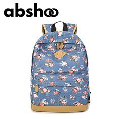 New Fashion Floral Backpacks For Teenager Girls Canvas Backpack Flower Pattern  School Bags Fashion Backpack, e7625c357a