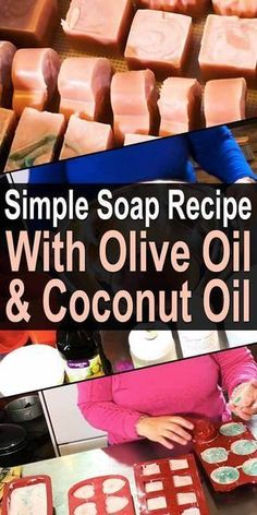 Simple Soap Recipe With Olive Oil. Nowadays, even basic bar soap is full of strange, caustic chemicals and perfumes. I just need something that will clean my skin and leave it feeling nice and soft. Diy Savon, Savon Soap, Soap Making Recipes, Homemade Soap Recipes, Diy Cosmetic, Coconut Oil Soap, Olive Oil Soap, Olive Oils, Lotion Bars