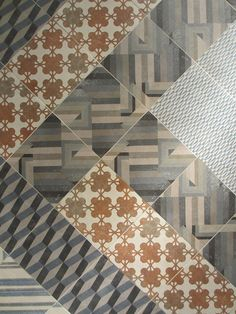 Wonderful new tiles by Mutina as seen at Salone del Mobile 2012, Milan (would make a lovely use of modern print fabrics in a quilt)